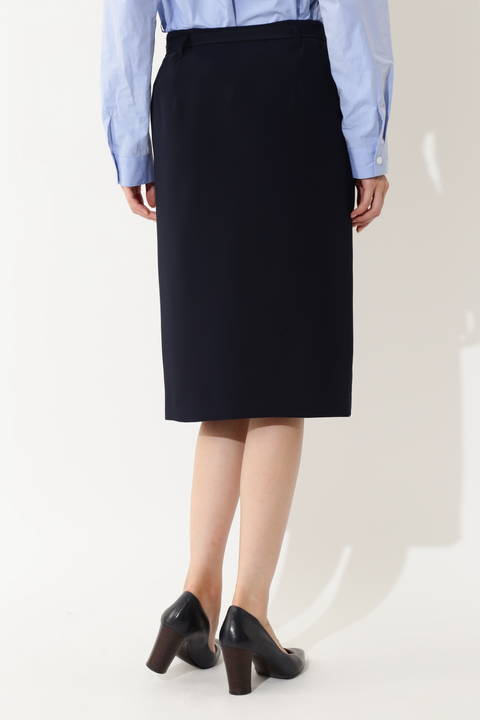 [ウォッシャブル] ダブルサテンスカート