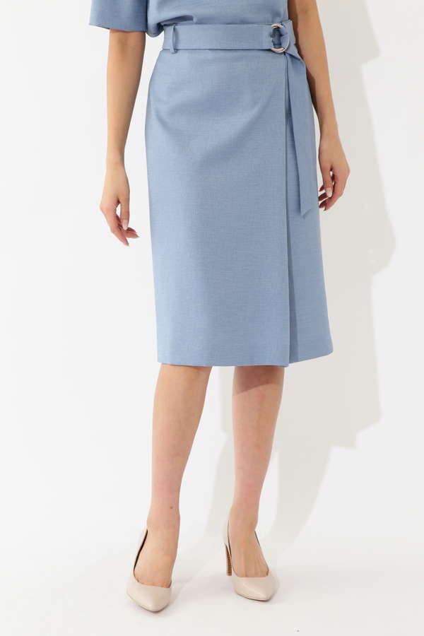 【先行予約 5月中旬 入荷予定】麻調サマーセットアップスカート