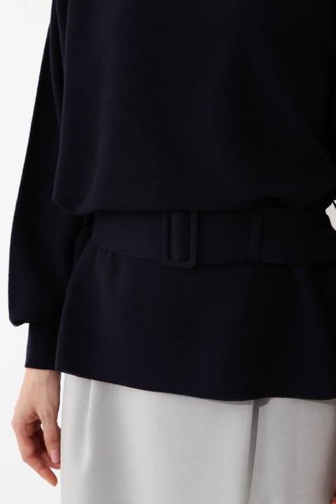 [ウォッシャブル]ウエストマークニットプルオーバー