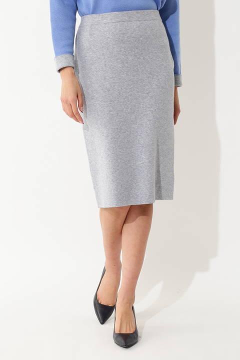 【島田彩夏さん着用】【WEB限定商品】ミックスニットスカート