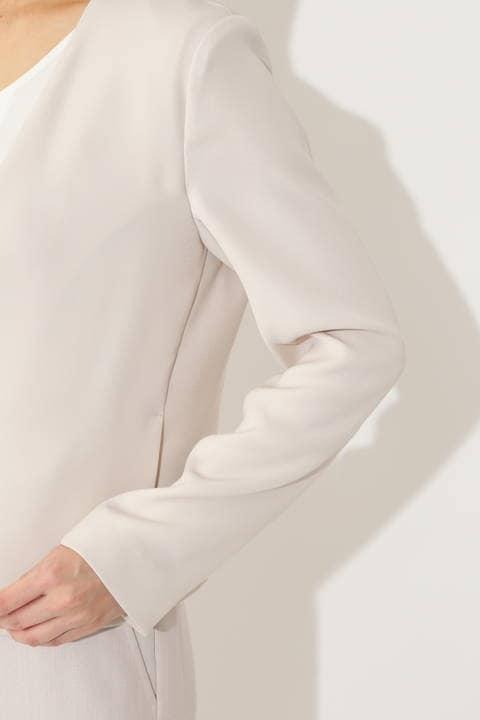 ノーカラーツイルジャケット