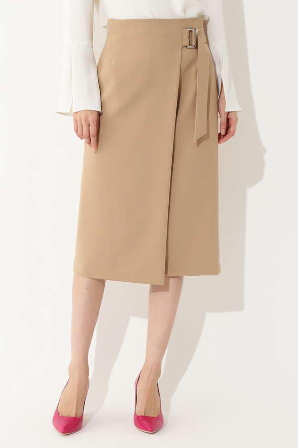 【島田彩夏さん着用】ミリオーネストレッチラップ風スカート