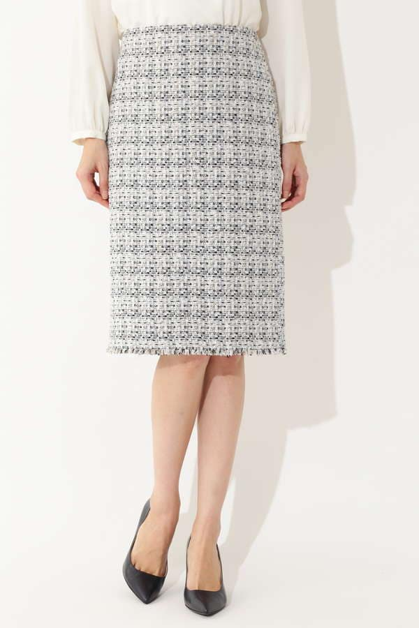 【鈴江奈々さん着用】ミックスツイードスカート