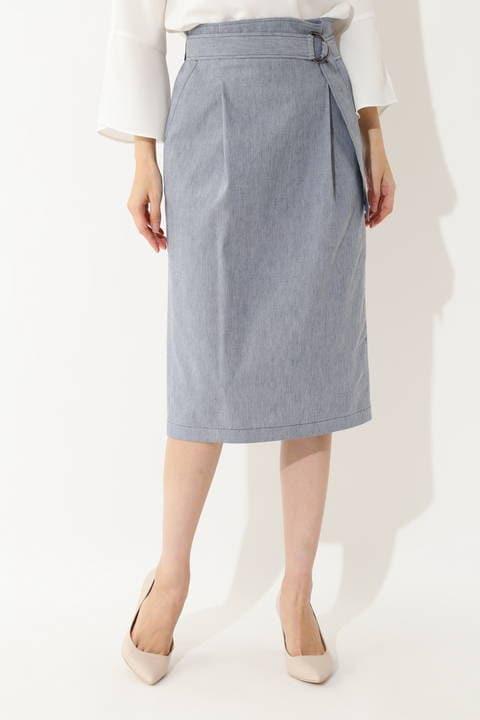[ウォッシャブル]【吉竹史さん着用】麻混ウェザーストレッチスカート