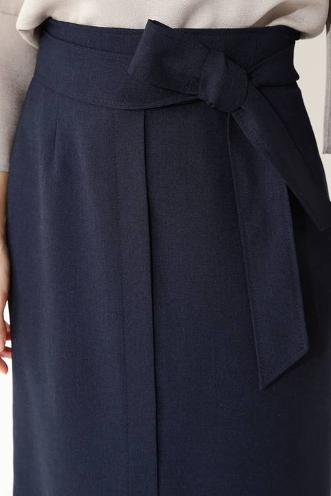 [ウォッシャブル]【吉竹史さん着用】リネン調リネーラースカート