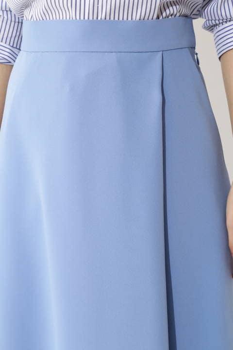 [WEB限定商品][ウォッシャブル]ラップフレアスカート