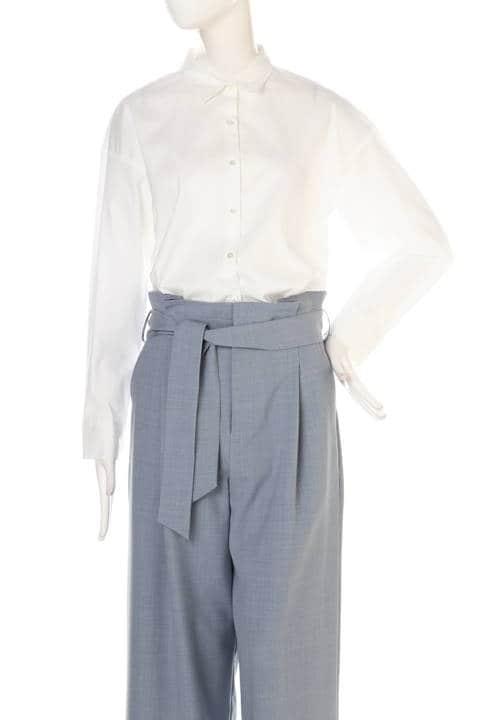 【Oggi4月号掲載】【鈴江奈々さん着用】先染め綿ナイロンシャツ