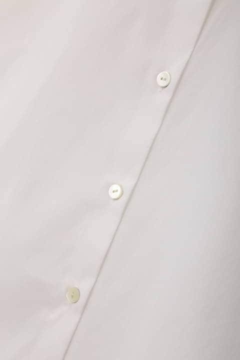 [ウォッシャブル]【Oggi4月号掲載】【鈴江奈々さん着用】先染め綿ナイロンシャツ