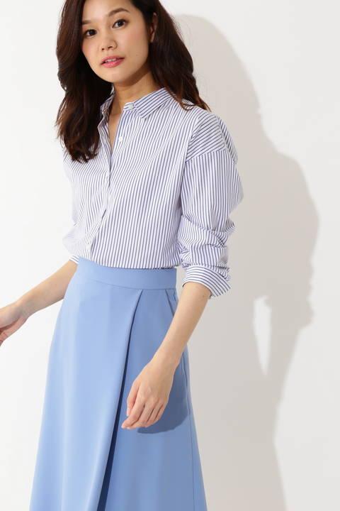 [WEB限定商品][ウォッシャブル] T/Cシャツ ストライプ ギンガムチェック