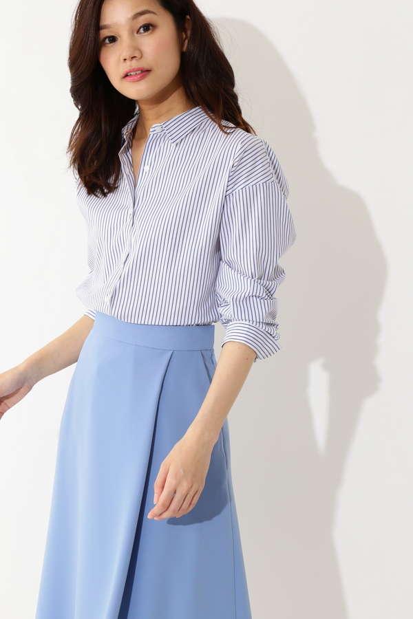 【先行予約 4月上旬 入荷予定】[WEB限定]T/Cシャツ ストライプ ギンガムチェック