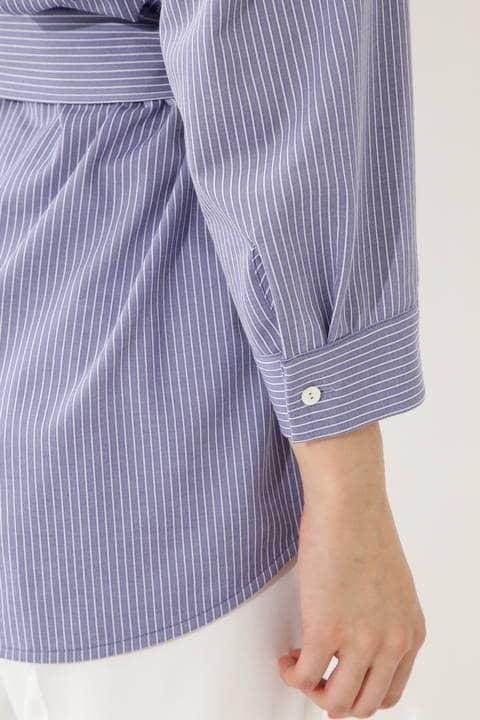 [ウォッシャブル]【STORY 6月号掲載】ジャージーストライプシャツ