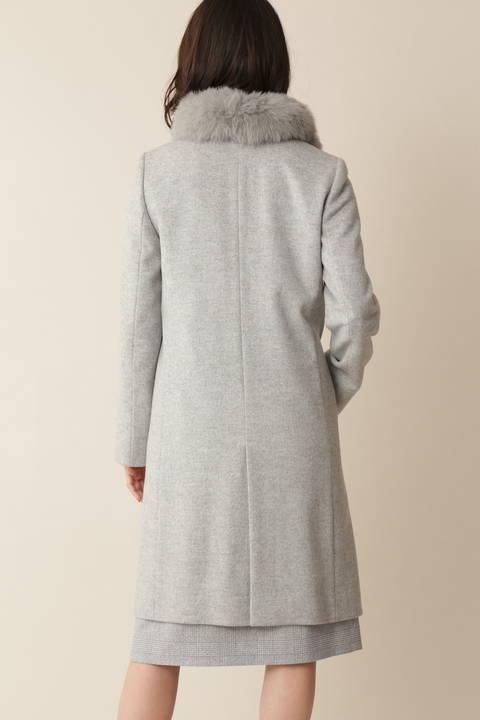 【先行予約 11月上旬-11中旬入荷予定】カシミヤ混ウールコート