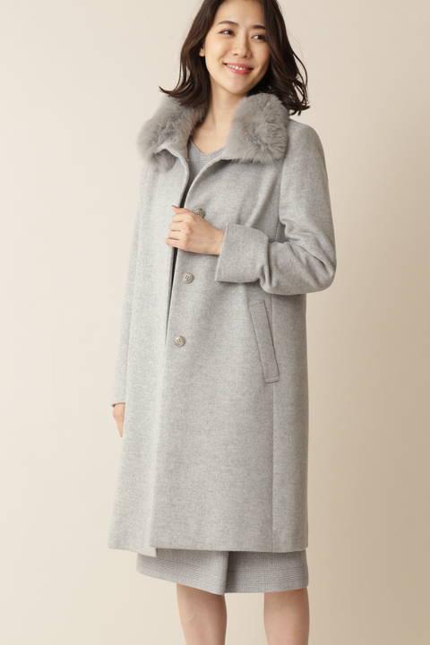 カシミヤ混ウールコート