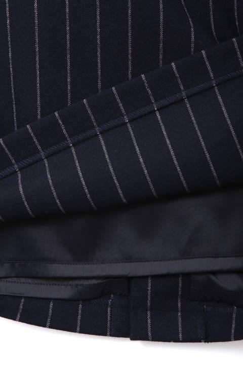[ウォッシャブル][Weekend Line]ストライプドロストスカート