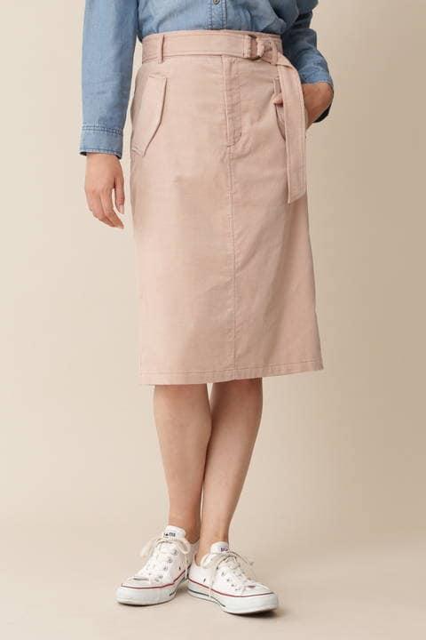【岩本乃蒼さん着用】[TV着用][ウォッシャブル][Weekend Line]シャツコールスカート