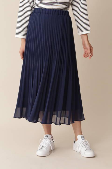 【岩本乃蒼さん着用 宇賀なつみさん着用】[TV着用][ウォッシャブル][Weekend Line]プリーツスカート