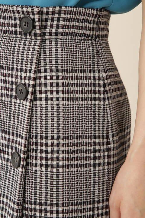 [ウォッシャブル]【永島優美さん着用】グレンチェックジャージースカート
