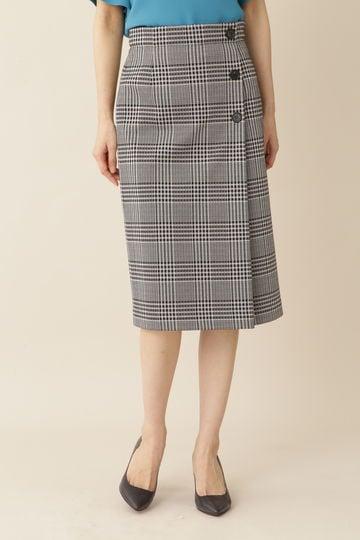 [ウォッシャブル]グレンチェックジャージースカート
