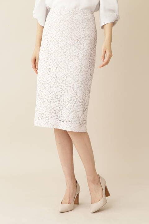 [ウォッシャブル]【永島優美さん着用】エレーヌレーススカート