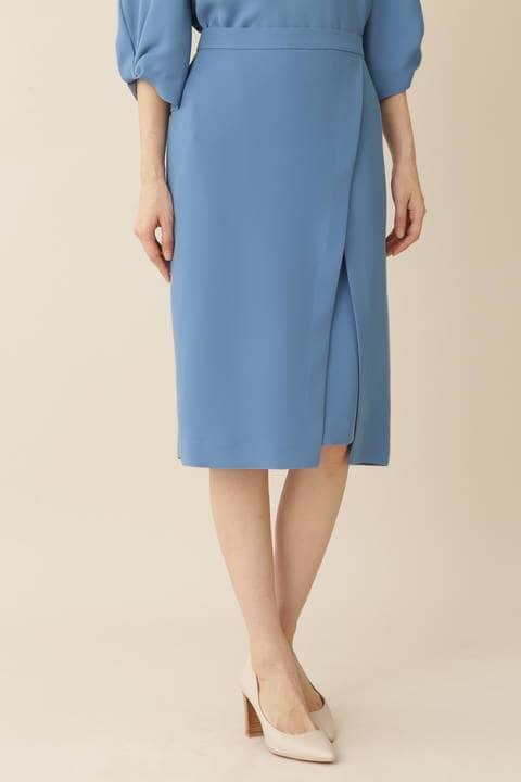[ウォッシャブル]強撚デザインタイトスカート