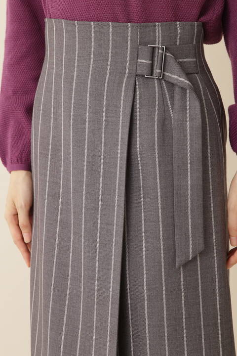 【岩本乃蒼さん着用】[TV着用][ウォッシャブル]TRストライプスカート