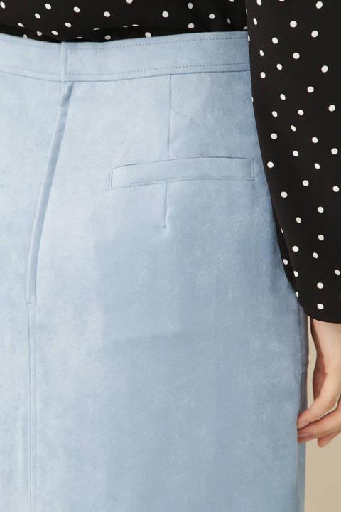 【岩本乃蒼さん着用 宇賀なつみさん着用】[TV着用][Weekend Line]スエードタイトスカート