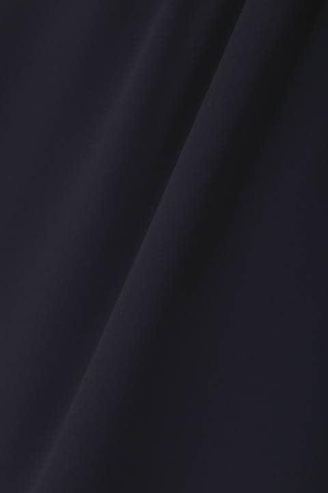【岩本乃蒼さん着用】[TV着用][ウォッシャブル]ジョーゼットスタンドブラウス