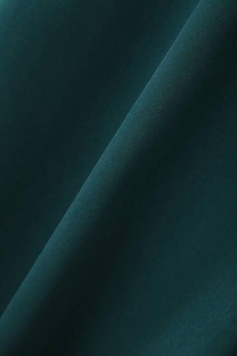 【大きいサイズ】[WEB限定商品]ピーチサテンスリーブノットブラウス