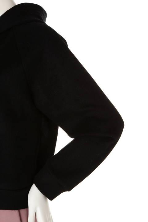 【大きいサイズ】[WEB限定商品]ウールシャギーフーデット