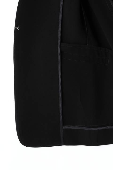 【大きいサイズ】トリアセ混カラーレスジャケット