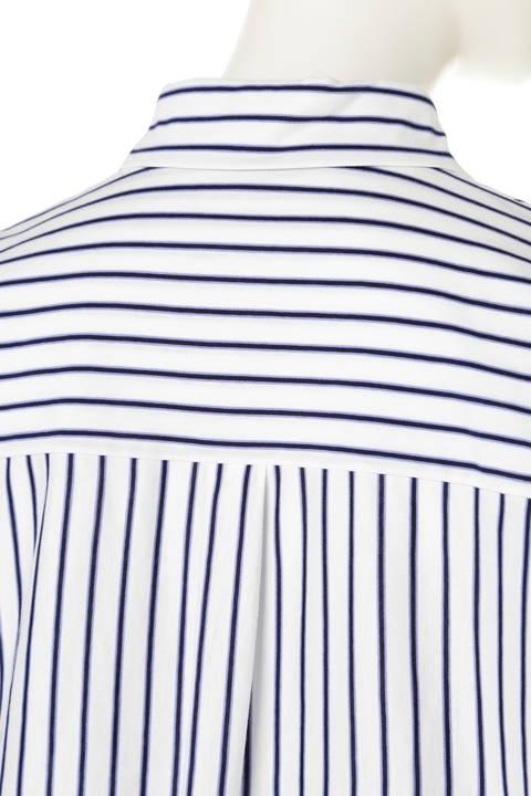 【大きいサイズ】ジャージーストライプシャツ