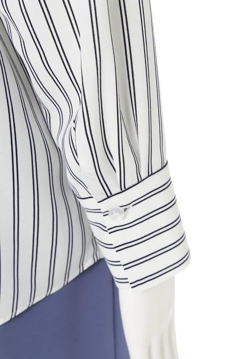 [ウォッシャブル]ストライプシャツ2
