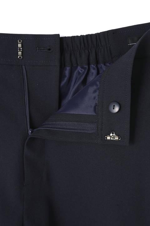 [ウォッシャブル]【大きいサイズ】麻混ワイドパンツ