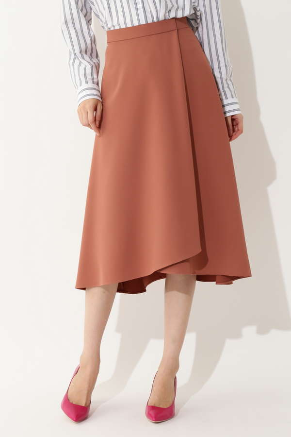 【大きいサイズ】ラップフレアスカート