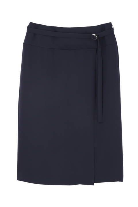 [ウォッシャブル]ダブルサテンスカート