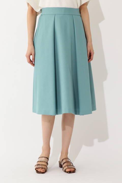 [ウォッシャブル]タックフレアスカート