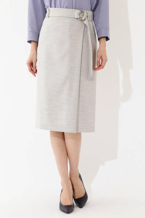 麻調サマーセットアップスカート