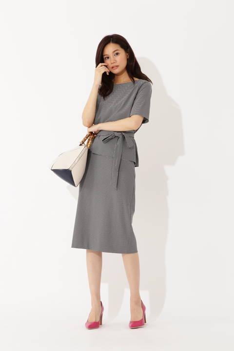 【先行予約 6月上旬 入荷予定】千鳥ジャージースカート