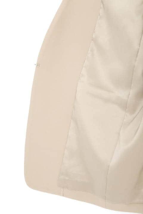 【鈴江奈々さん着用】【大きいサイズ】ノーカラーストレッチジャケット