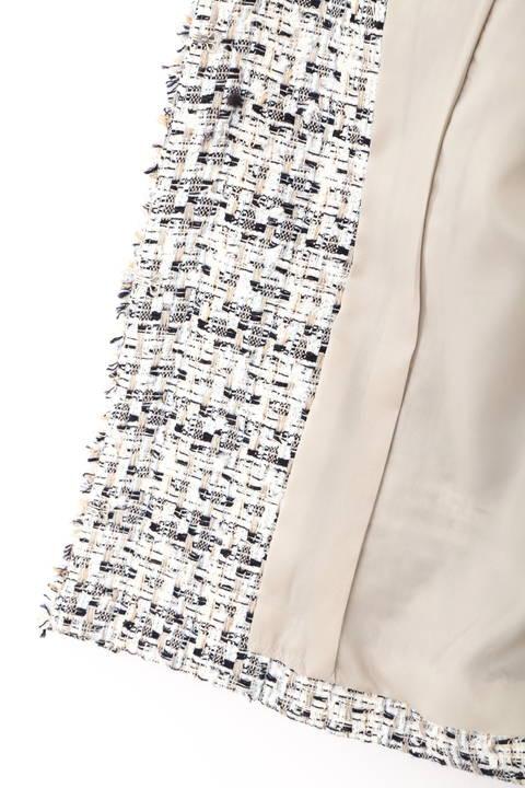 【高島彩さん着用】【大きいサイズ】ミックスツイードジャケット