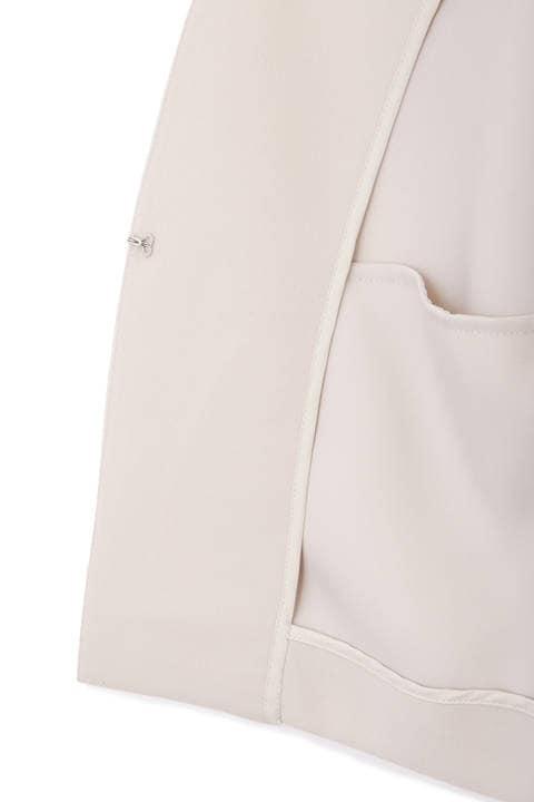 【大きいサイズ】ノーカラーツイルジャケット