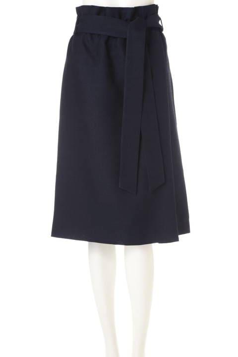 [WEB限定商品][ウォッシャブル]【大きいサイズ】リネンライクハイウエストスカート