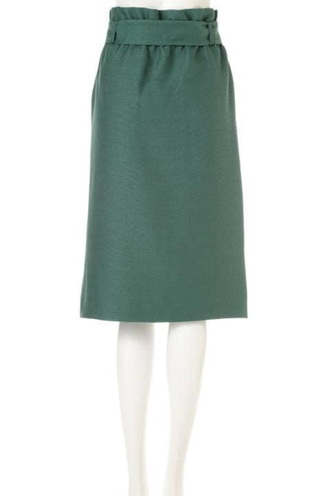 【大きいサイズ】[WEB限定商品]リネンライクハイウエストスカート