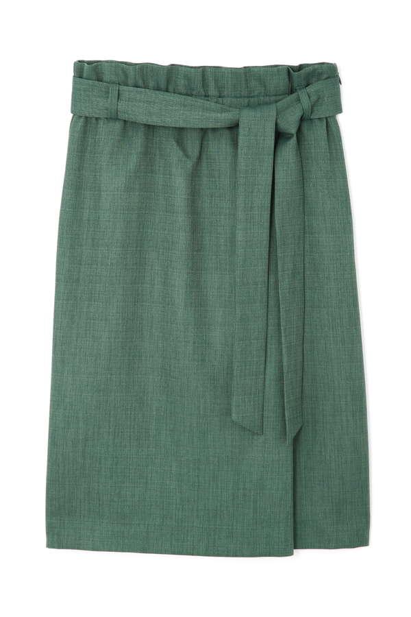 【大きいサイズ】[WEB限定]リネンライクハイウエストスカート