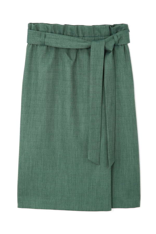 [WEB限定] リネンライクハイウエストスカート