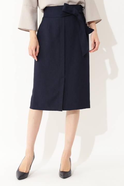 [ウォッシャブル]【大きいサイズ】リネン調リネーラースカート