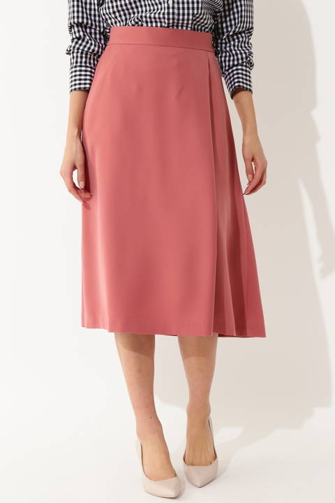 【大きいサイズ】[WEB限定商品]ラップフレアスカート