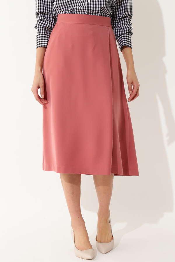 【先行予約 4月上旬 入荷予定】【大きいサイズ】[WEB限定]ラップフレアスカート