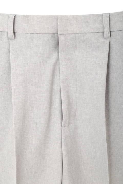 [ウォッシャブル]【大きいサイズ】リネンタッチストレートパンツ