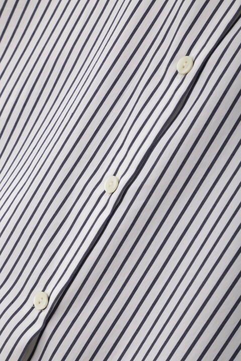 【大きいサイズ】先染めナイロンストレッチシャツブラウス